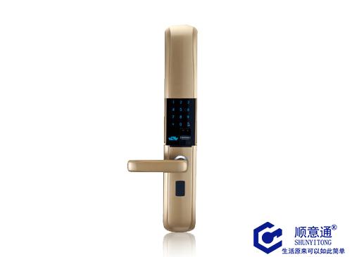 滑盖指纹锁 智能密码锁电子门锁家用防盗门锁包安装